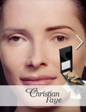 christian faye augenbraunen make-up